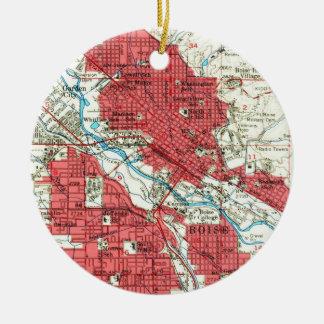 Vintage Map of Boise Idaho (1954) Christmas Ornament