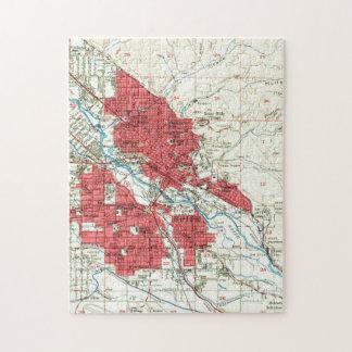 Vintage Map of Boise Idaho (1954) Jigsaw Puzzle