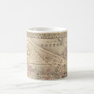 Vintage Map of Boston (1880) Basic White Mug