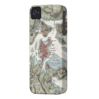 Vintage Map of Boston Harbor (1807) iPhone 4 Covers