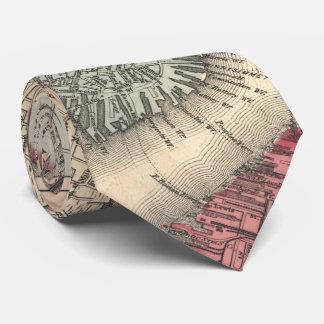 Vintage Map of Boston Massachusetts (1871) Tie