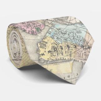 Vintage Map of Boston Massachusetts (1896) Tie