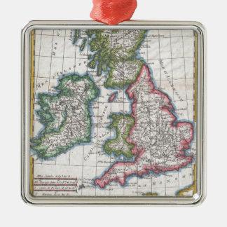 Vintage Map of British Isles (1780) Christmas Ornament