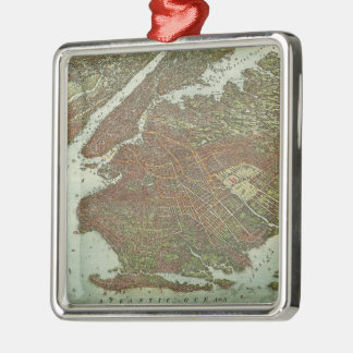 Vintage Map of Brooklyn NY (1908) Christmas Ornament