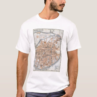 Vintage Map of Bruges (1905) T-Shirt