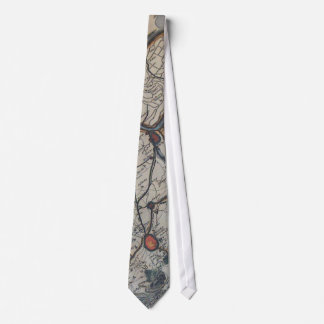 Vintage Map of Bruges Belgium (17th Century) Tie