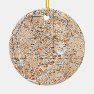 Vintage Map of Brussels (1905) Christmas Ornament