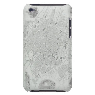 Vintage Map of Brussels Barely There iPod Cases