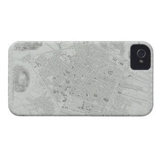 Vintage Map of Brussels Case-Mate iPhone 4 Case