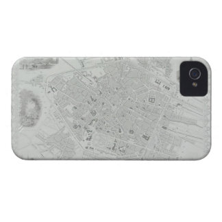 Vintage Map of Brussels iPhone 4 Case
