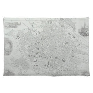 Vintage Map of Brussels Placemat