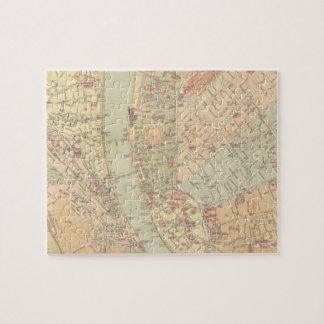 Vintage Map of Budapest Hungary (1884) Jigsaw Puzzle