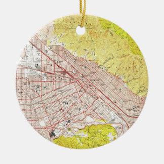 Vintage Map of Burbank California (1953) Christmas Ornament