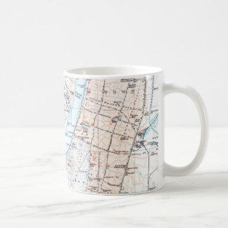 Vintage Map of Calcutta India (1914) Coffee Mug