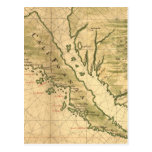 Vintage Map of California (1650) Postcard