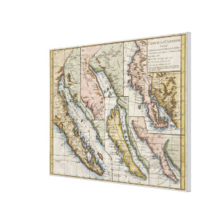 Vintage Map of California (1772) Canvas Print