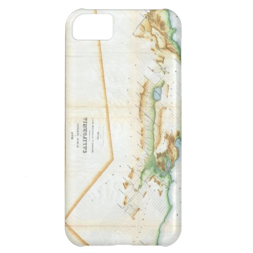 Vintage Map of California (1854) Cover For iPhone 5C