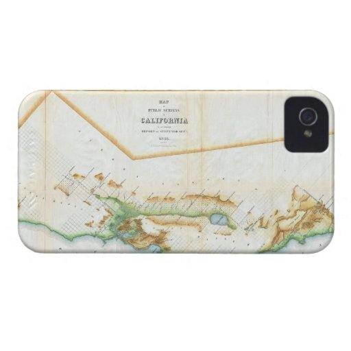 Vintage Map of California (1854) iPhone 4 Case