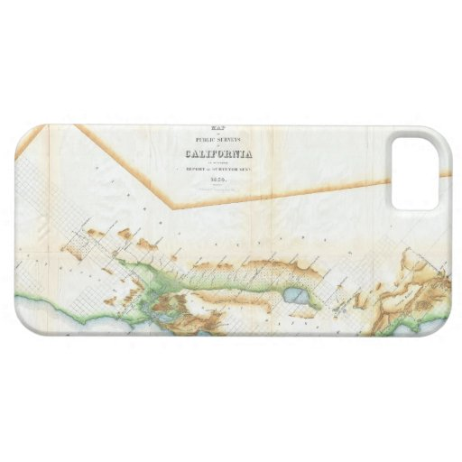 Vintage Map of California (1854) iPhone 5 Case