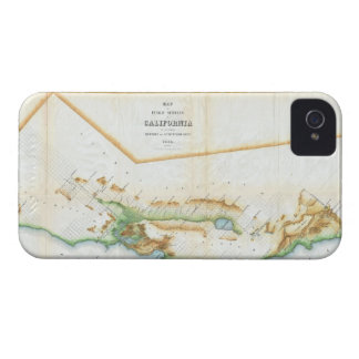 Vintage Map of California (1854) Case-Mate iPhone 4 Case