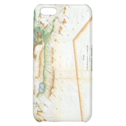 Vintage Map of California (1854) iPhone 5C Cases