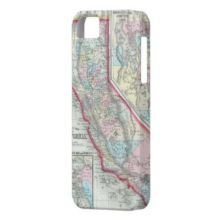 Vintage Map of California 1860 iPhone 5 Cases