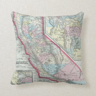 Vintage Map of California (1860) Cushion