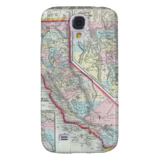 Vintage Map of California (1860) Galaxy S4 Case