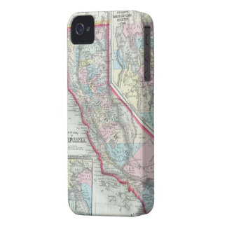 Vintage Map of California (1860) iPhone 4 Cases