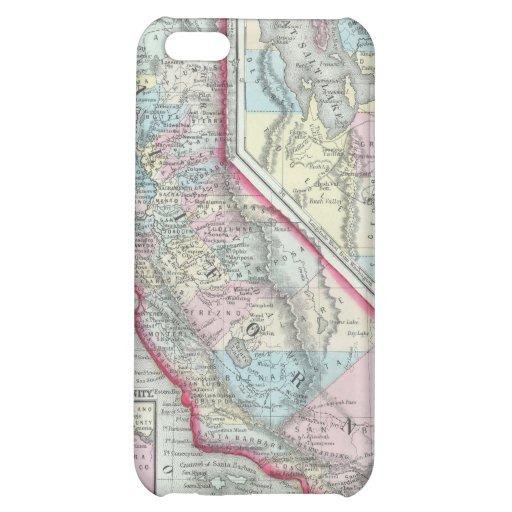 Vintage Map of California (1860) iPhone 5C Case