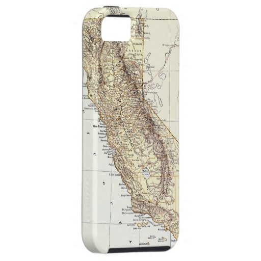 Vintage Map of California (1878) iPhone 5 Cases