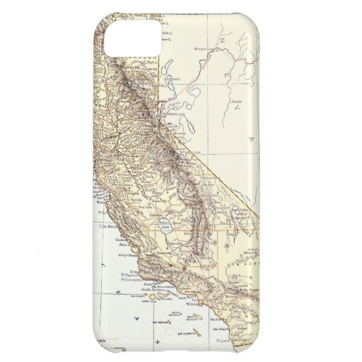 Vintage Map of California (1878) iPhone 5C Covers