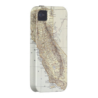 Vintage Map of California 1878 Case-Mate iPhone 4 Covers