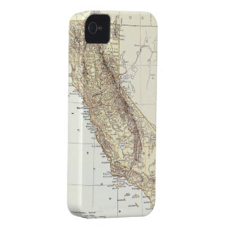 Vintage Map of California 1878 iPhone 4 Case-Mate Case