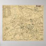 Vintage Map of Cambridge Massachusetts (1880) Poster