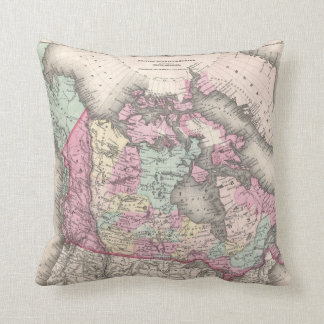 Vintage Map of Canada (1857) Cushion