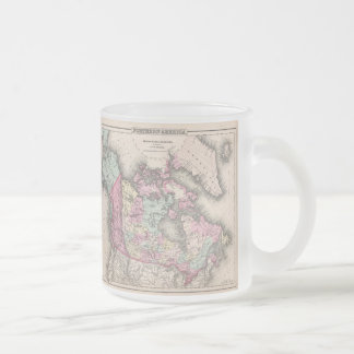 Vintage Map of Canada (1857) Frosted Glass Mug