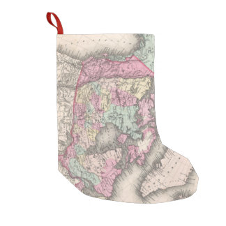 Vintage Map of Canada (1857) Small Christmas Stocking