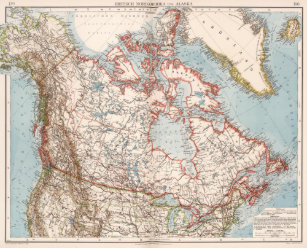 Map Of Canada 1905.Old Map Of Canada Art Wall Decor Zazzle Co Uk