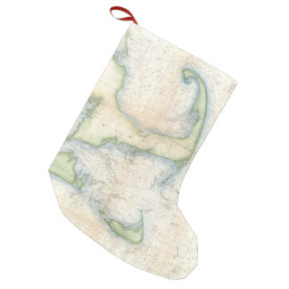 Vintage Map of Cape Cod (1857) Small Christmas Stocking