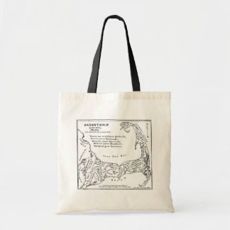 Vintage Map of Cape Cod (1890) Tote Bag