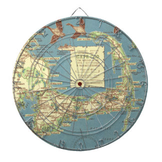 Vintage Map of Cape Cod (1940) Dartboard