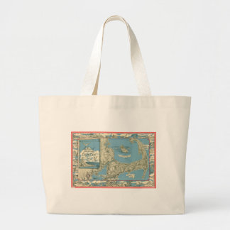 Vintage Map of Cape Cod (1945) Large Tote Bag