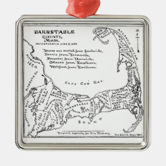 Vintage Map of Cape Cod Christmas Ornament