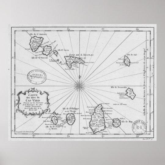 Vintage Map of Cape Verde (1746) Poster