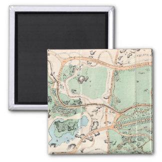 Vintage Map of Central Park (1860) Square Magnet