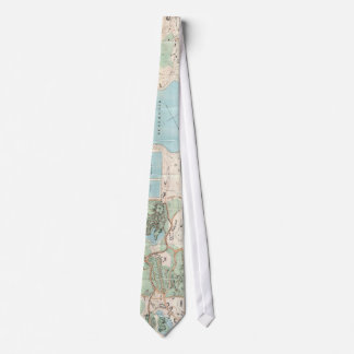 Vintage Map of Central Park (1860) Tie