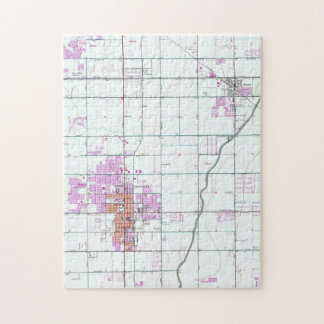 Vintage Map of Chandler & Gilbert Arizona (1952) Jigsaw Puzzle