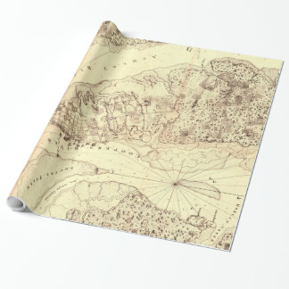 Vintage Map of Charleston South Carolina (1780) Wrapping Paper