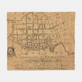 Vintage Map of Charleston South Carolina (1790) Fleece Blanket